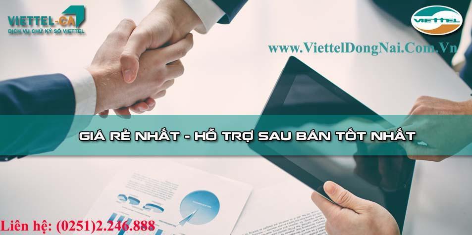 Mua Chữ ký số Viettel Đồng Nai giá rẻ
