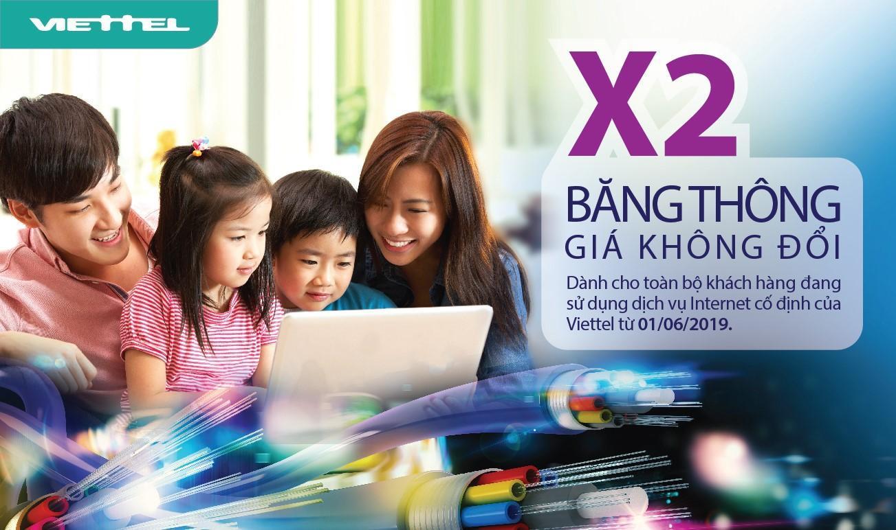 Lắp mạng internet Viettel Đồng Nai gấp đôi băng thông gá không đổi