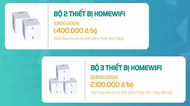 trọn bộ thiết bị Wifi Mesh Viettel